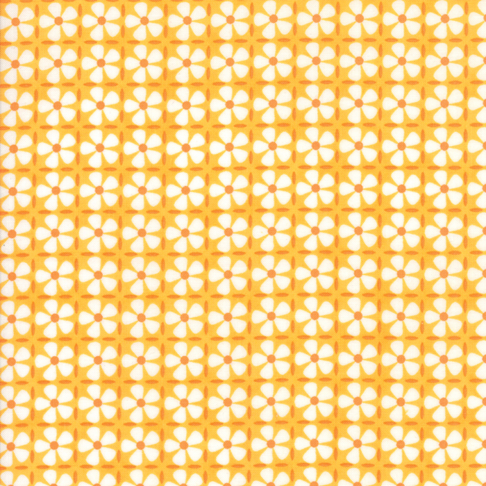 Confetti - Flower Grid Orange 22328-16