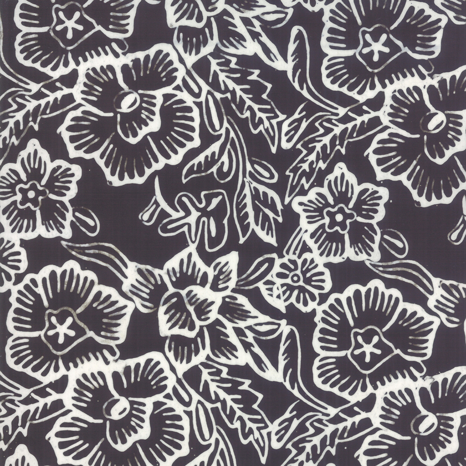 Aloha Batiks - Black and White 4356-43