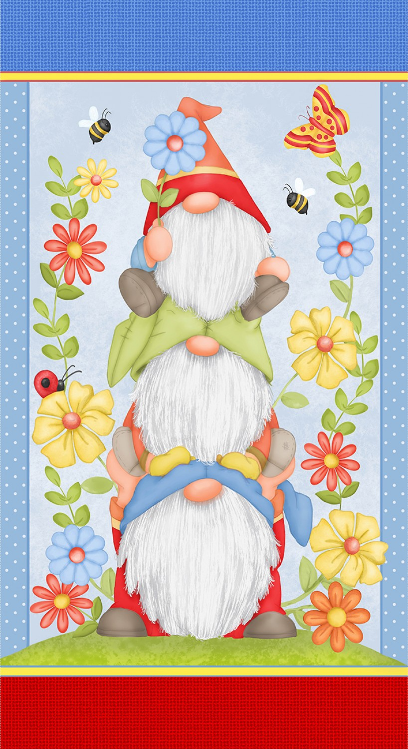 Gnome is Where Your Garden Grow Fabric