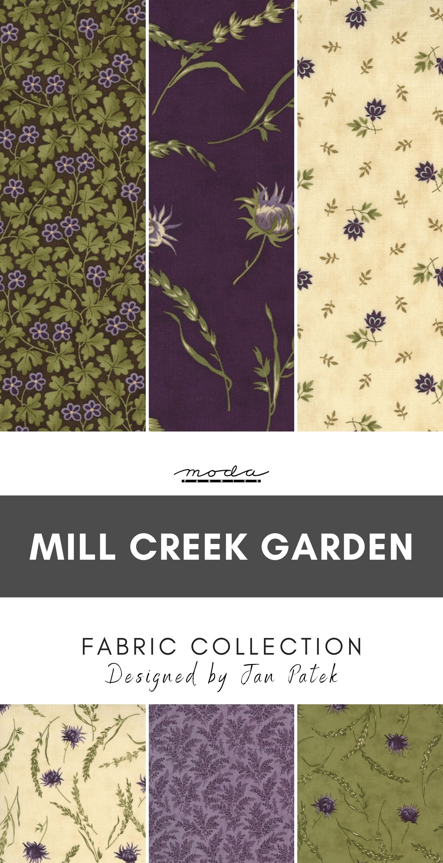 Mill Creek Garden Fabric Collection