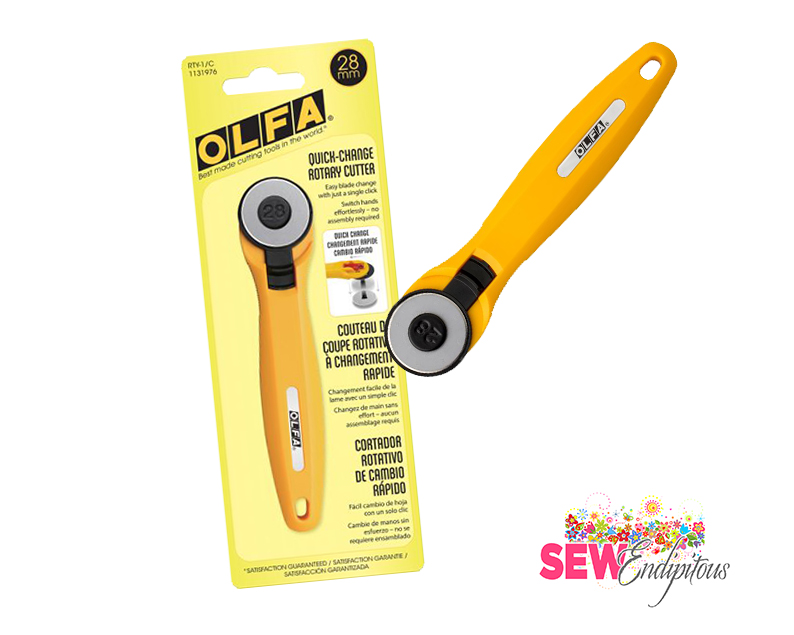 OLFA 28 mm Quick-Change Rotary Cutter RT-1/C 1131976