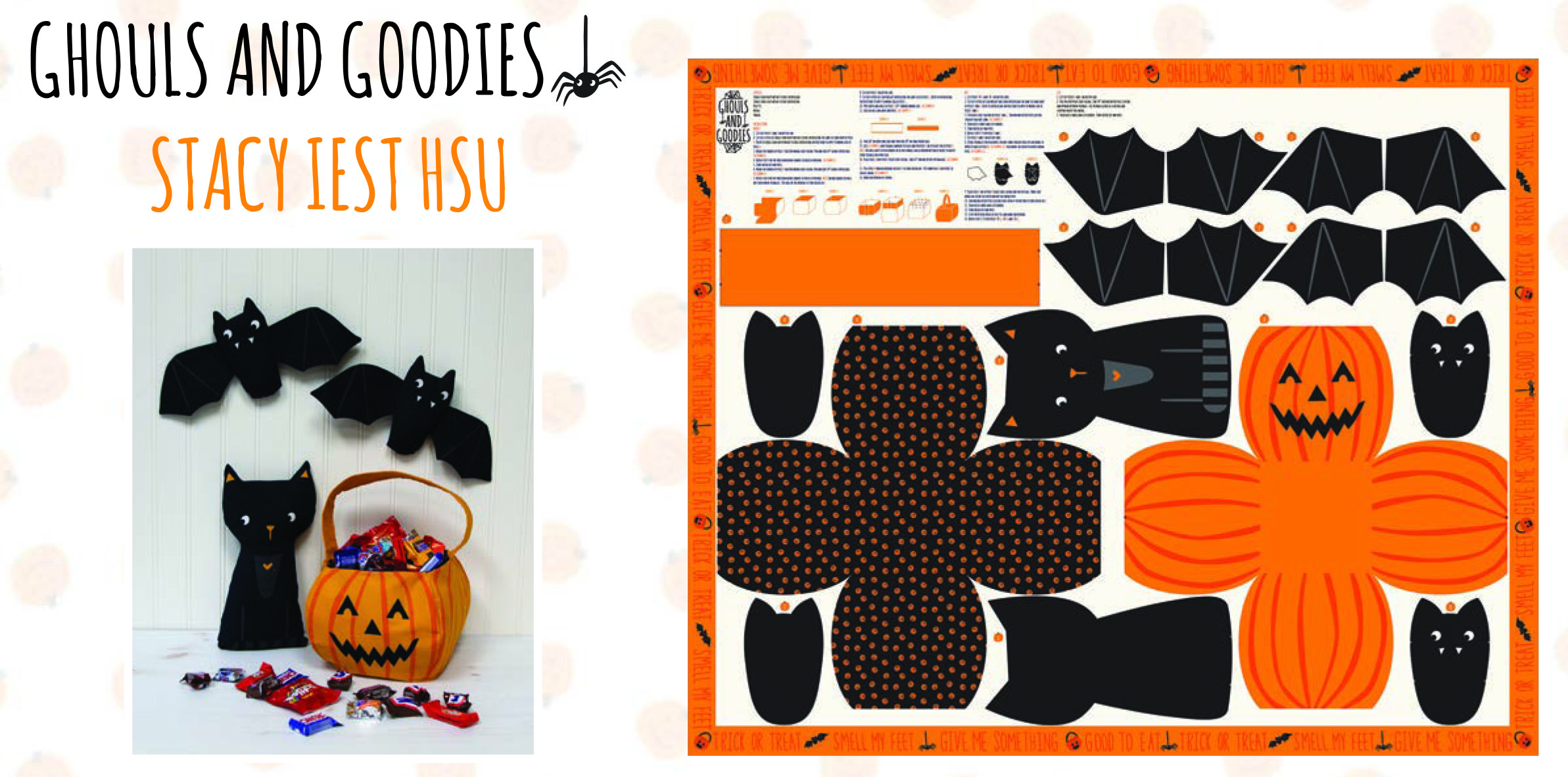 DIY Halloween Project Featuring the Ghouls and Goodies Fabric Panel