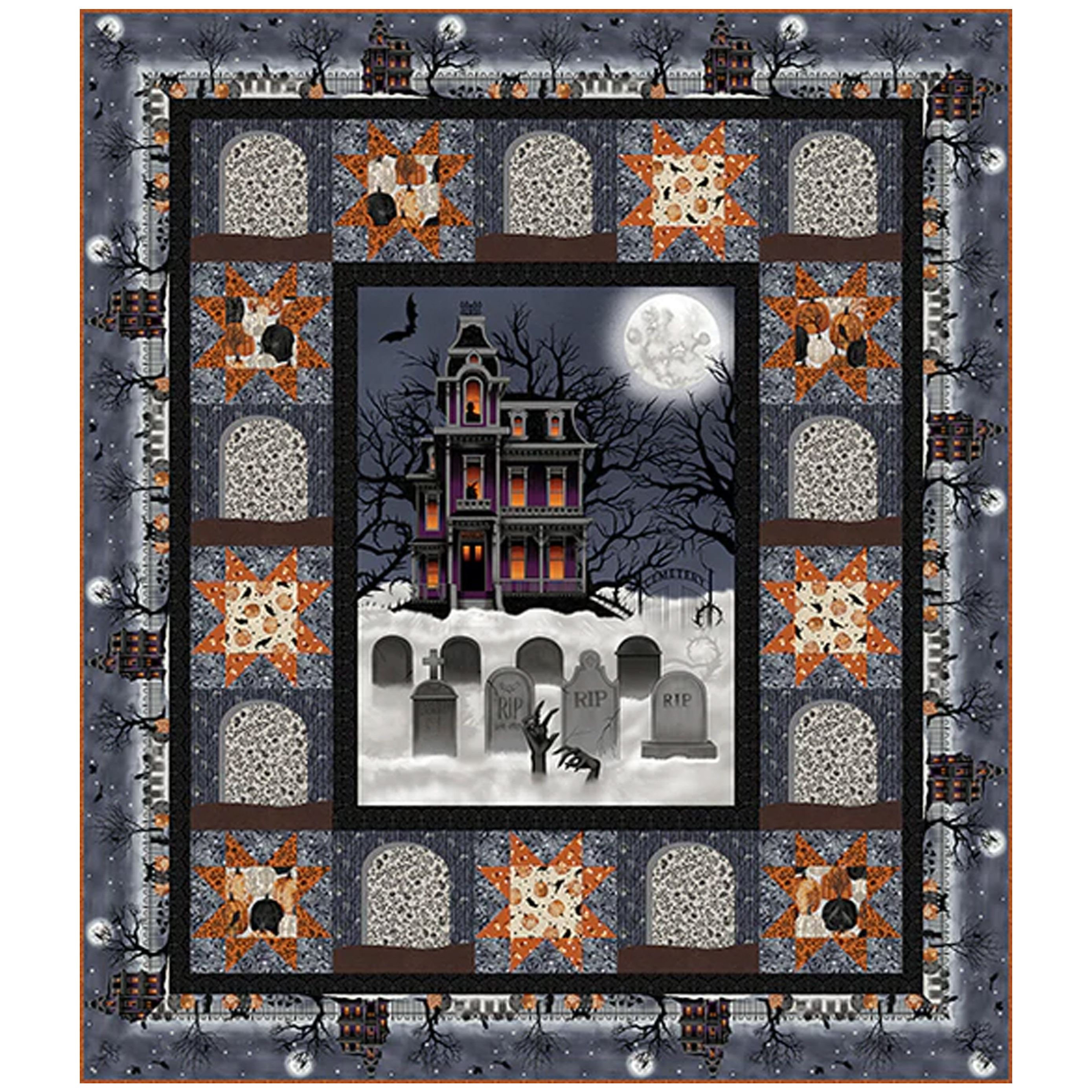 Spooky Night Free Quilt Pattern