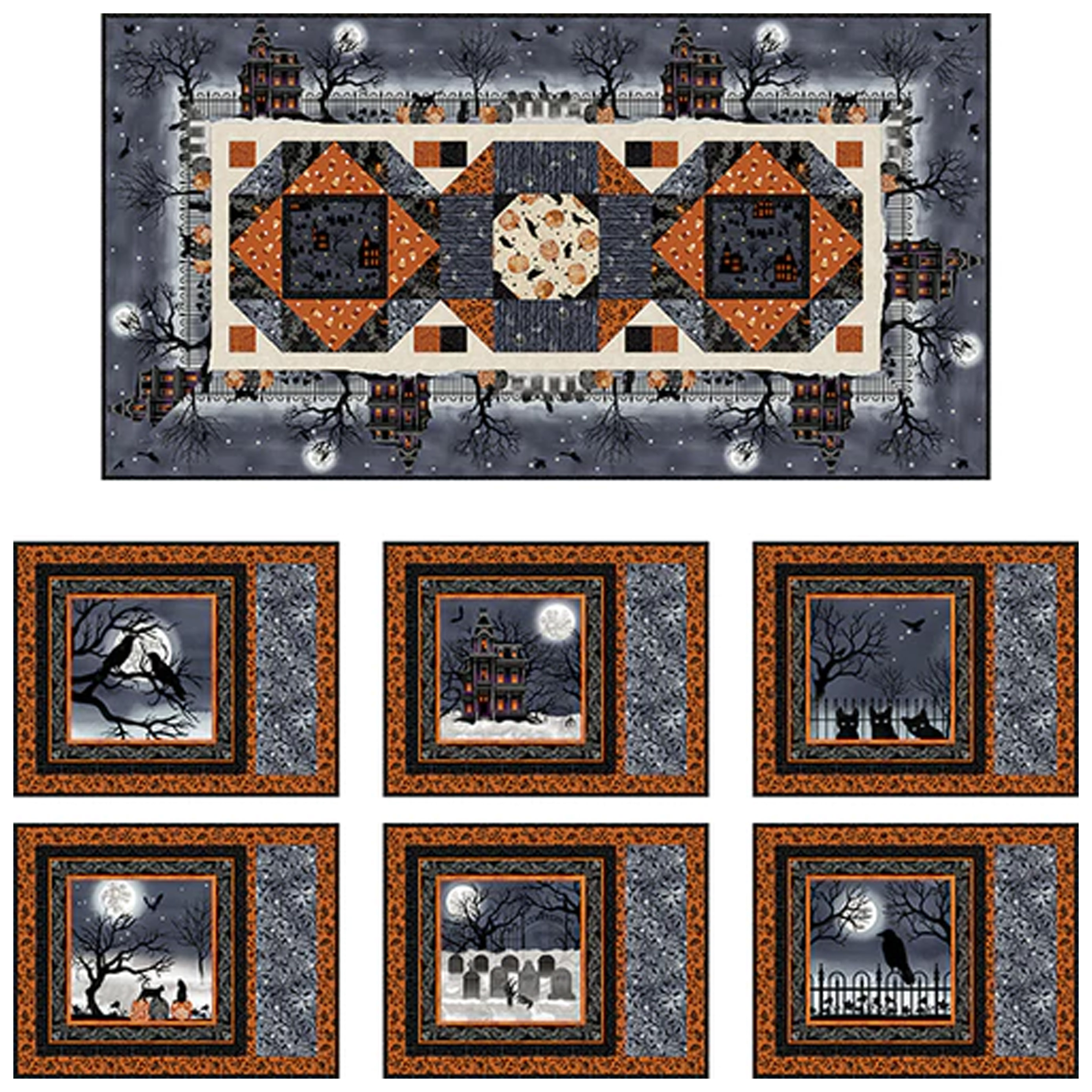 Spooky Night Free Table Set Pattern