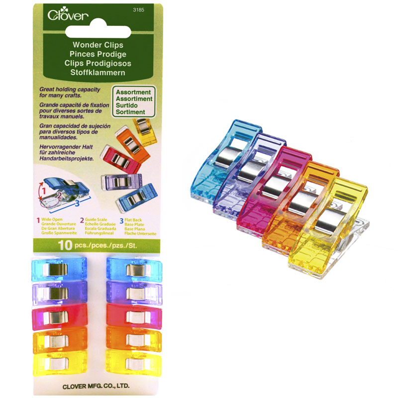 Wonder Clips Assorted 10ct 3185