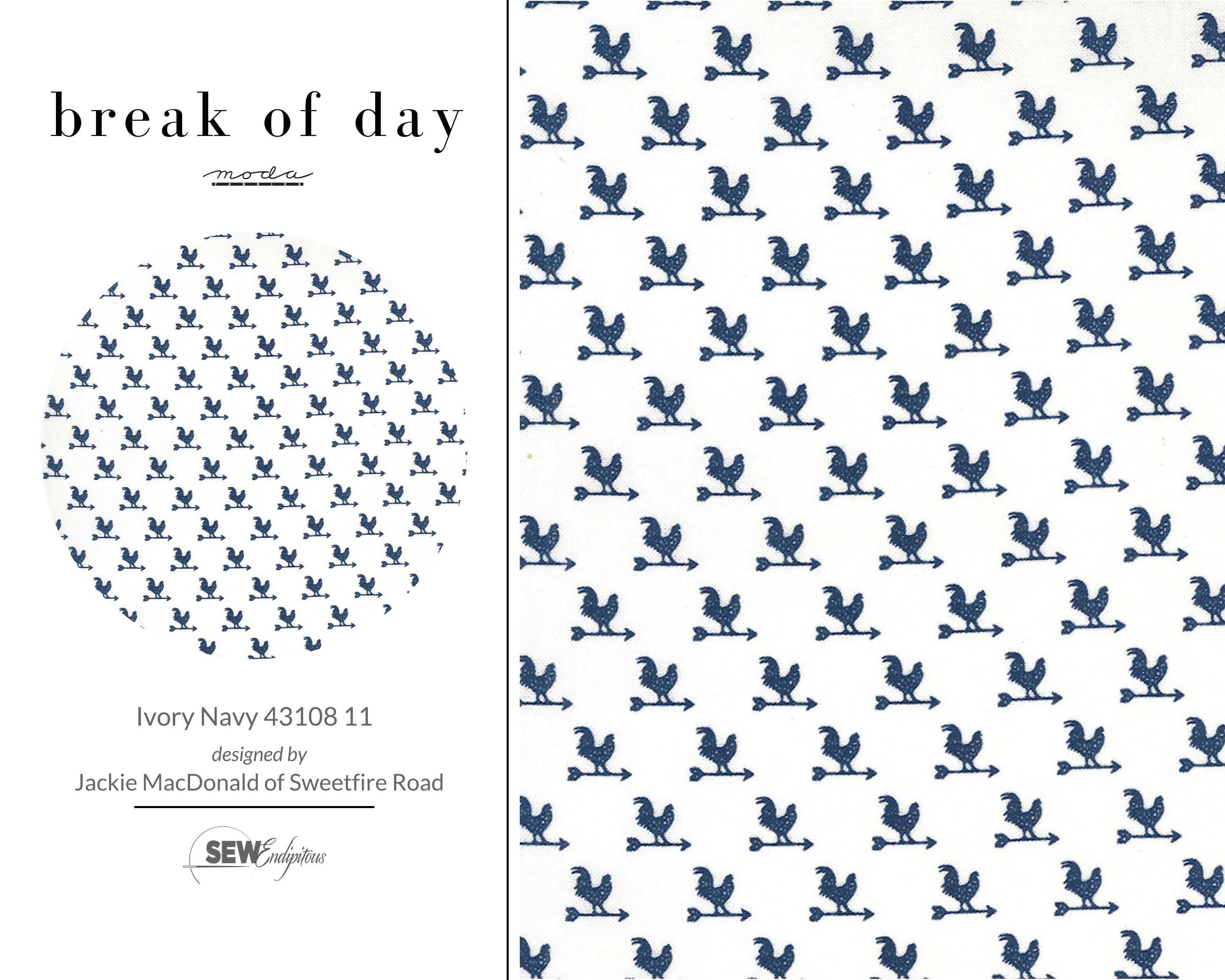 Break Of Day - Ivory Navy 43108 11