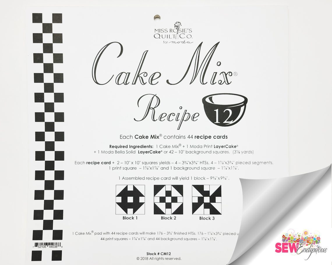 Miss Rosie's Quilt Company Cake Mix® Recipe Book 12