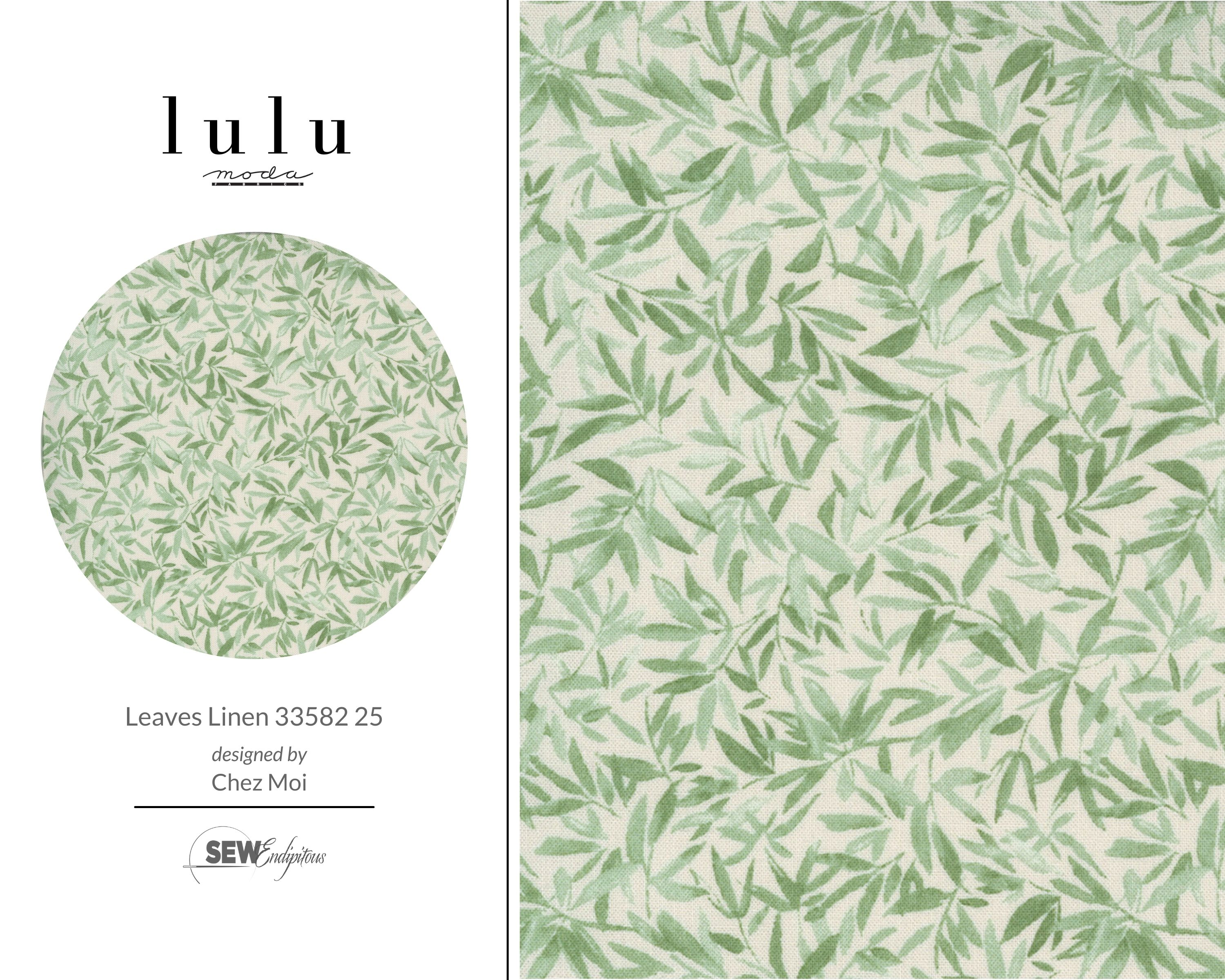 Lulu - Leaves Linen 33582 25