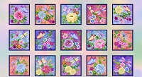Gossamer Garden - PANEL Pastel Blocks 2648-10