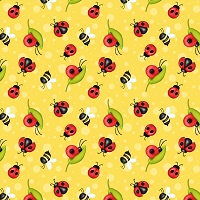 Gnome is Where Your Garden Grows - Yellow Ladybugs 9445-44