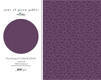 Anne of Green Gables - Floral Grape # C10603R-GRAPE