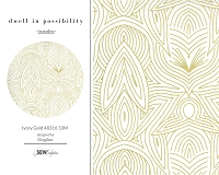Dwell in Possibility - Ivory Gold 48316 33M Metallic
