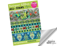 Tula Pink All Stars Agave Designer Ribbon Pack DP-75TK