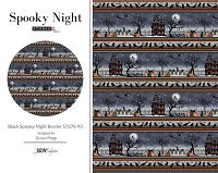 Spooky Night - Black Spooky Night Border 5727S-93