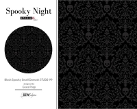 Spooky Night - Black Spooky Small Damask 5720S-99