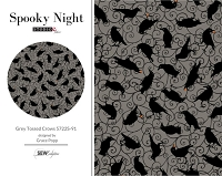 Spooky Night - Grey Tossed Crows 5722S-91