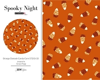 Spooky Night - Orange Damask Candy Corn 5721S-33