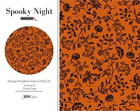 Spooky Night - Orange Pumpkin Vines 5725S-33