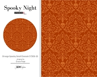 Spooky Night - Orange Spooky Small Damask 5720S-33